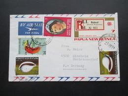 Übersee Papua Neuguinea Royal Visit 1974 Und Weitere Marken MiF Air Mail / Luftpost Nach Sinsheim - Papua-Neuguinea