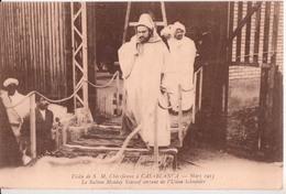 CASABLANCA-. LE SULTAN MOULAY YOUSEFF SORTANT DE L'USINE SCHNEIDER - Casablanca