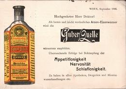 ! 1906 Werbung, Reklame, Privat Ganzsache Aus Wien, Österreich, Nach München, Heinrich Mattoni, Guber Quelle Srebrenica - Interi Postali