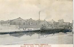 Pantin - Etablissement Henri Hamelle - Facade Posterieure - Canal - Péniche - Pantin