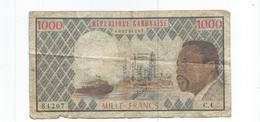 Gabon Billet De 1000 Francs Ayant Circulé,republique Gabonaise - Gabon
