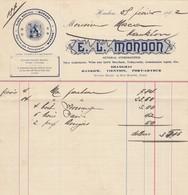 "9611-FATTURA DITTA ""E.L. MONDON""- GENERAL STOREKEEPER - HANKOW - CINA - 1902 - Fatture & Documenti Commerciali"