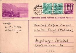 ! 1939 Ganzsache Lausanne, Schweiz Augsburg An Prof. Edgar Dacque, Autograph Karl Ernst Krafft, Astrologe, Astrology LAS - Autographs