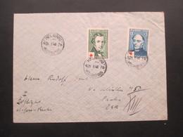 Finnland 1948 Rotes Kreuz / Red Cross Nr. 349 Und 351 MiF Auf Luftpost Brief In Die CSR / Tschechoslowakei - Cartas