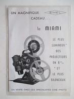 "Théme Appareil Photo & Camera -  Projecteur EMEL ""Modèle MIAMI""   - Ancienne Coupure De Presse De 1954 - Filmkameras - Filmprojektoren"