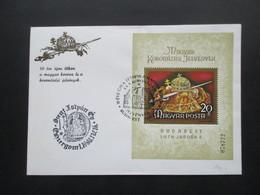 Ungarn 1978 Block 135 A FDC / Sonderumschlag Mit SST Ungarische Krönungsinsignien - Briefe U. Dokumente