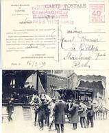 EMA HAVAS ACTUELLEMENT TOILETTES DE CAMPAGNE ET BAINS DE MER = PARIS 111 = 17 JUIL 29 – GRANDS MAGASINS DU LOUVRE - Storia Postale