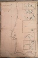 Map Chart Portugal Cost Lisboa Porto Vigo Faro 1817 - Cartes Marines