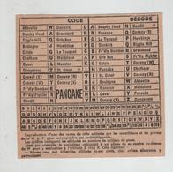Carte De Code RAF Contrôleurs Et Pilotes Pancake Convoy - Luchtvaart
