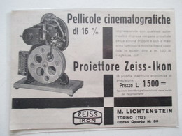 Théme Appareil Photo & Camera -  Projecteur ZEISS IKON    - Ancienne Coupure De Presse De 1928 (Italie) - Filmprojectoren