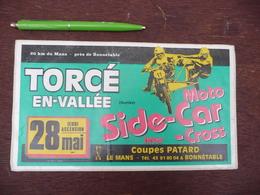Autocollant Illustré Collection Moto Side-Car Cross - France - Stickers