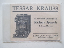 Théme Appareil Photo & Camera - Modèle TESSAR KRAUSS - Ancienne Coupure De Presse - Appareils Photo