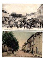 Saint Palais.Rue Thiers. Place De L'Hotel De Ville. 2CP. - Saint Palais
