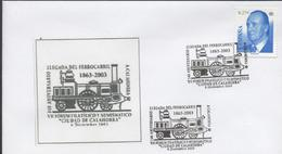 3469   Carta 140 Aniversario Llegada Del Ferrocarril  A La Ciudad De Calahorra.((1863-2003) - Eisenbahnen