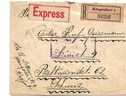 A-I031 /ÖSTERREICH - Klagenfurt, Express/Einschreiben 6.4.1919 - Covers & Documents