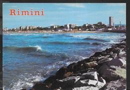 RIMINI - PANORAMA DAL MOLO -VIAGGIATA - Rimini