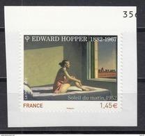 Edward Hopper, Soleil Du Matin, AUTO ADHESIF N°661A - 2012  Neuf **   Grande Marge - France
