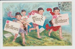 THEME FETES ET VOEUX - NOUVEL AN - BONNE ANNEE - ENFANTS DEGUISES EN FACTEUR - Neujahr