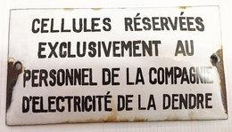 Plaque émaillée Lessines - Autres Collections