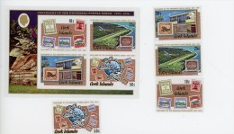 Cook Islands 1974- Timbres Sur Timbre UPU-YT 394/7+B38***MNH - Cook