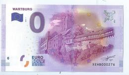 2016 BILLET TOURISTIQUE 0 Euro  All -  Wartburg     -  Epuise -       Ne Pas Ce Fier A La Numerotation - EURO
