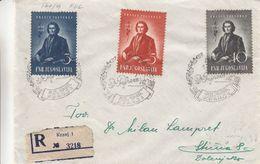 Yougoslavie - Lettre Recom De 1949 -oblit Kranj - Poëte - Valeur 10 Eurosigan - Brieven En Documenten