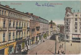 Cpa ( Roumanie) Bucuresti , Bukarest, Viktoria Strasse - Roumanie