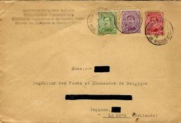 1916- Enveloppe De Ste ADRESSE Affr. à 35 C Du Gouvernement Belge  Pour La Haye - Belgisch Leger