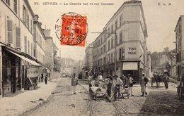 DPT 92 SEVRES La Grande Rue Et Rue Cournol - Sevres