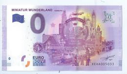2016 BILLET TOURISTIQUE 0 Euro  All -  Miniaturg Wunderland    -  Epuise -       Ne Pas Ce Fier A La Numerotation - EURO