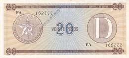 Billet  A Identifier    Vingt Pesos  Etat Neuf - Cuba