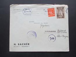 Finnland 1941 Zensurpost Finnischer Stempel Tarkastettu Granskat Und Zensur Stempel Ab Nach Lübeck Und Weitergeleitet - Cartas