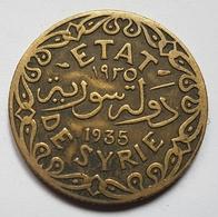 PIECE - MANDAT FRANCAIS - ETAT DE SYRIE - 5 PIASTRES - G.26 - 1935 - PATEY - EPIS DE BLE - - Syrie