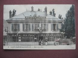 CPA 73 SAINT JEAN DE MAURIENNE Hotel De La Gare ANIMEE VOITURE Et COMMERCE 1915 - Saint Jean De Maurienne