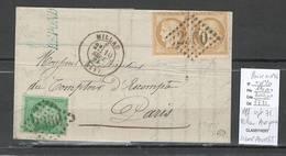 France -Lettre - Affranchissement Septembre 1871 - Millau - Aveyron - Marcophilie (Lettres)