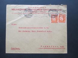 Finnland 1930 Freimarken Wappenlöwe Nr. 150 MeF Firmenbrief Aktiebolaget Helsingfors Apotekares Drognederlag - Cartas