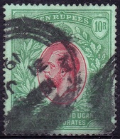 EAST AFRICA & UGANDA 1912 KGV 10r Red & Green/Green SG58 USED - Protettorati De Africa Orientale E Uganda
