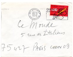 FINISTERE - Dépt N° 29 = QUIMPER RP 1972 = FLAMME CONCORDANTE = SECAP Illustrée  'CODE POSTAL / MOT DE PASSE ' - Codice Postale