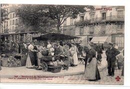 Paris : Série ''Tout Paris '' N° 249 Bd De Ménilmontant , Marchandes De Lègumes XX Ar - Francia