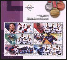 South Korea 2018. Medalists Of The Winter Paralympic Games - PyeongChang. MNH - Invierno 2018 : Pieonchang