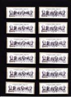 Atm-Lisa / Lot à La Faciale (+ Frais De Vente) / Amitié Franco-Américaine, Lafayette, Jefferson, 2012, Avec Reçus - 2010-... Vignettes Illustrées