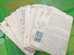 LOT N° E 153 Un Lot De 130 Actes Notariés Et Divers ,  Avec Timbres Fiscaux - Sammlungen (ohne Album)