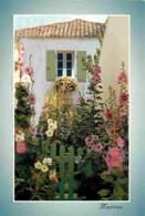 17 - Ile De Ré - Maison Fleurie De Roses Trémières - Fleurs - Voir Scans Recto-Verso - Ile De Ré
