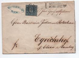 1862 - LETTRE De MUNCHEN (BAYERN) Pour EYRICHSHOF - Bayern