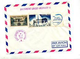 Lettre Cachet Batiment Base Morvan Sur Diamant Outre-mer - Marcophilie (Lettres)