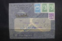 BRÉSIL. - Enveloppe ( Illustrée Zeppelin ) Pour La France Via Natal, Affranchissement Plaisant - L 52548 - Briefe U. Dokumente