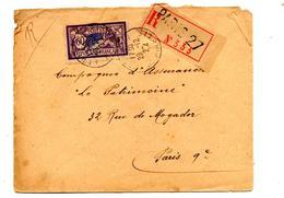 Lettre Recommandee Paris 27 Sur Merson - Marcophilie (Lettres)