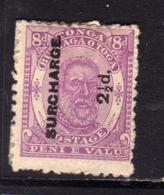 TONGA TOGA 1894 KING GEORGE I SURCHARGE 2 1/2p On 8p MH - Tonga (...-1970)