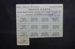 ALLEMAGNE - Carte De Rationnements En  1916/ 1917 - L 52550 - Collezioni