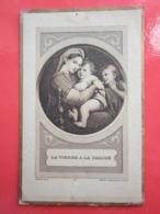 LA VIERGE A LA CHAISE - IMAGE PIEUSE RELIGIEUSE - Andachtsbilder